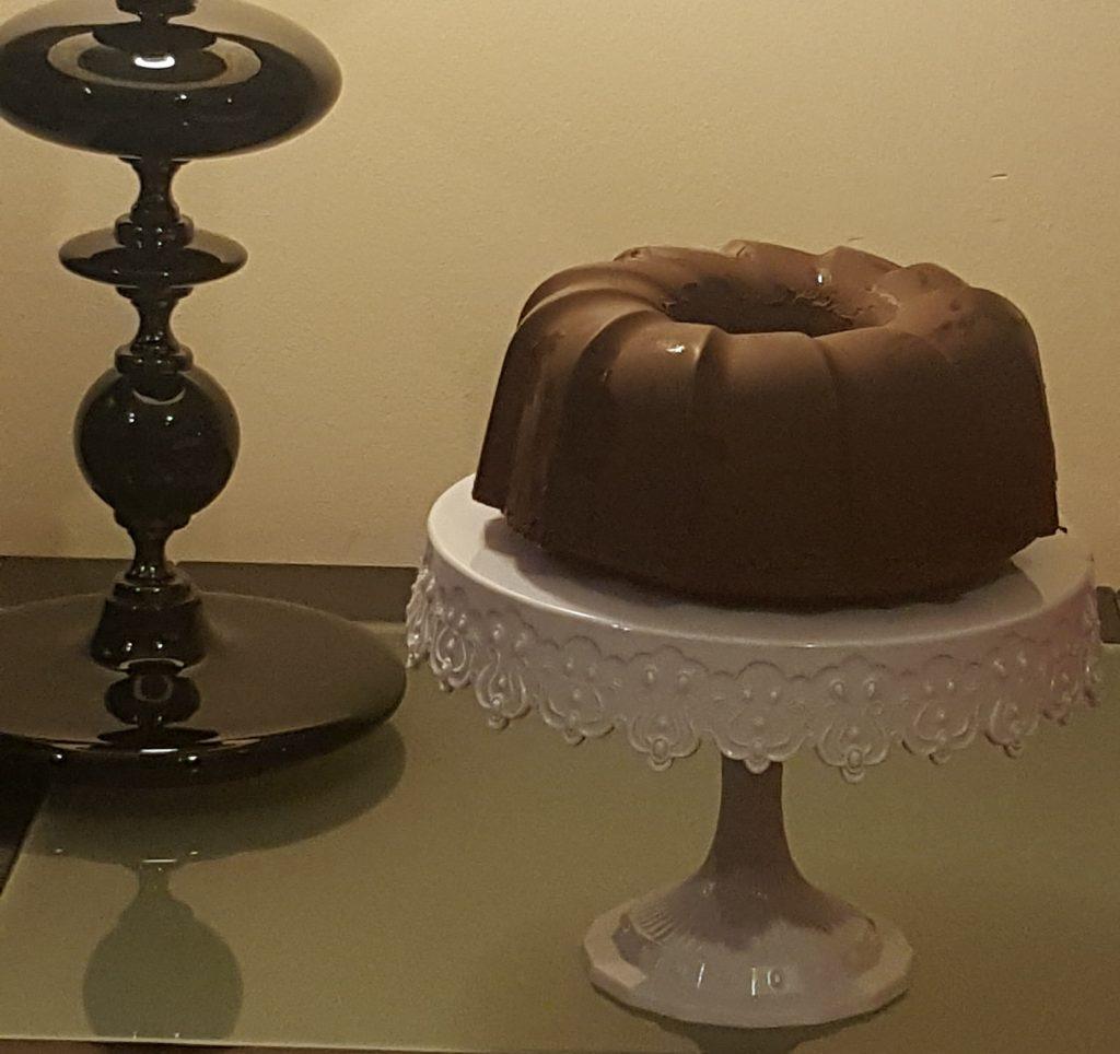 Receta de Bundt Cake de naranja con crujiente de chocolate