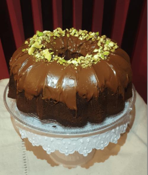 Receta de Bundt Cake de chocolate y Té Matcha