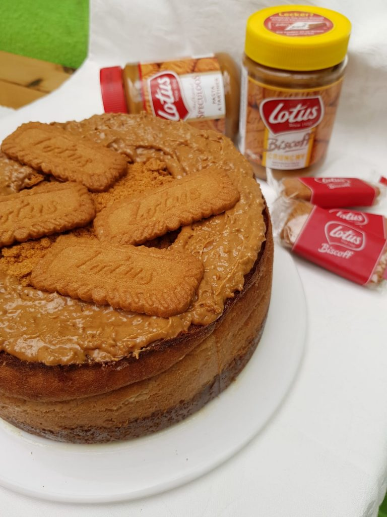 Receta de Cheesecake de crema Lotusbiscoff