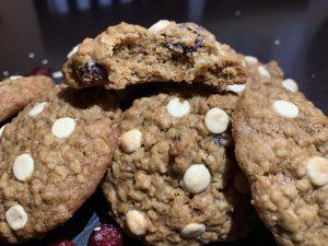 Receta de cookies de avena y arándanos secos