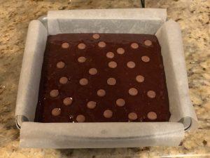 Receta de Brownie con mermelada de melocotón