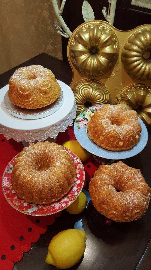 Receta de Mini Bundt Cakes de limón