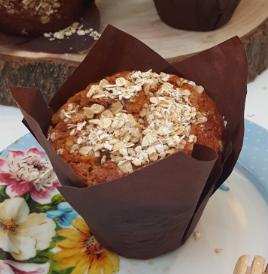 Receta de muffins de avena, manzana y miel