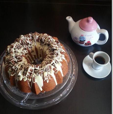 Receta de Bundt Cake de vainilla con Crumble de chocolate