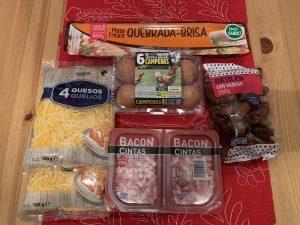 Receta de quiche de dátiles con bacon