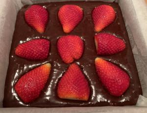 Receta de Brownie de fresas