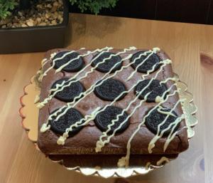 Receta de Brownie de galletas Oreos