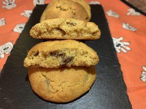 Receta de Cookies de crema de cacahuetes con chips de chocolate