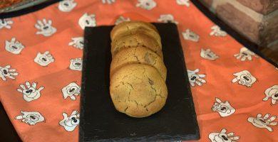Receta de Cookies de crema de cacahuete con chips de chocolate