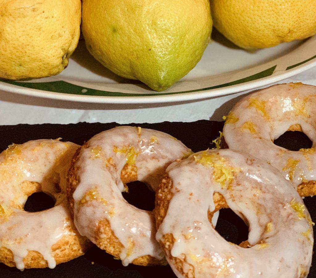 Receta de Donuts de limon y almendras