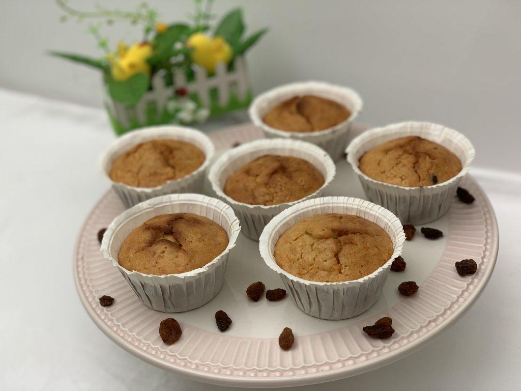 Receta de Muffins de zanahoria, pasas y miel