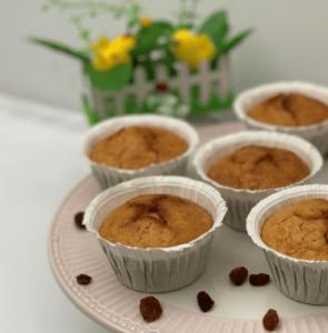 Muffins de Zanahoria, pasas y miel