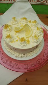Receta de Tarta de galletas con crema de limón