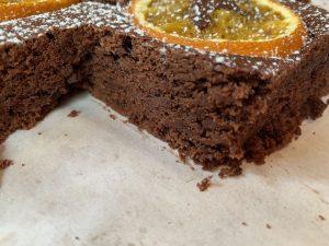 Receta de Brownie de naranja